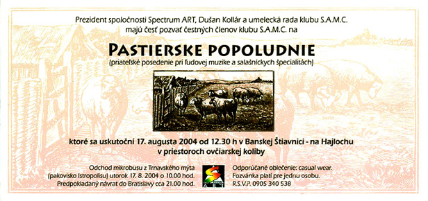 2004 Pastierske popoludnie Hajloch Pozvanka